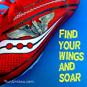 Grandpa's wings on my racing spikes